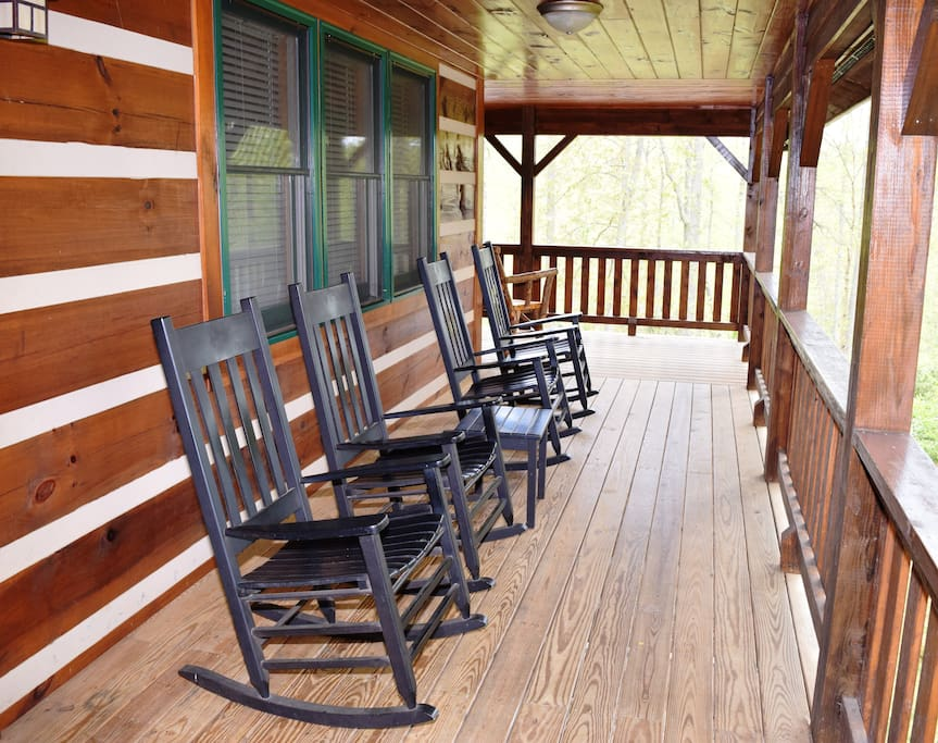 Wrap around Deck w Rocking chairs
