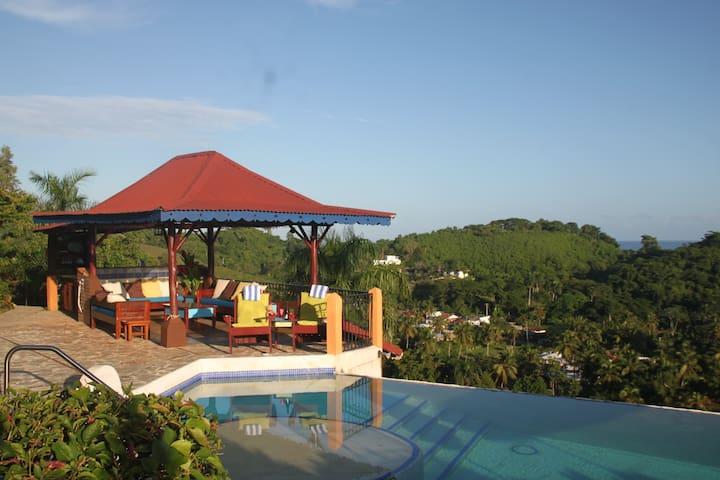 gazebo lounge area overlooking ocean