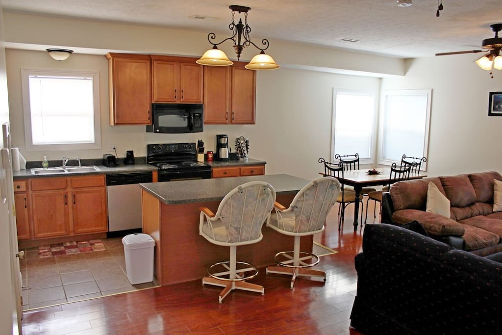 Kitchen Fully Equipped with Breakfast Bar/Island and part of Great Room