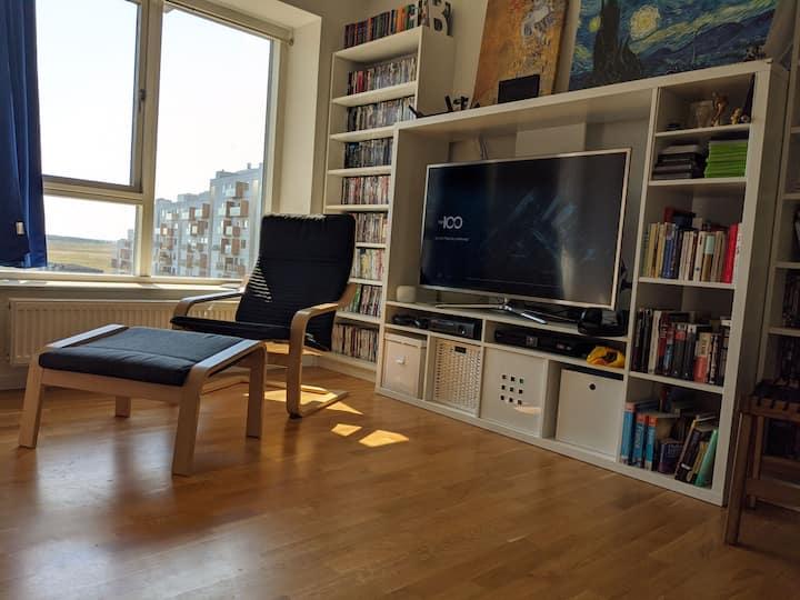 Bright cozy room in modern apartment in Copenhagen