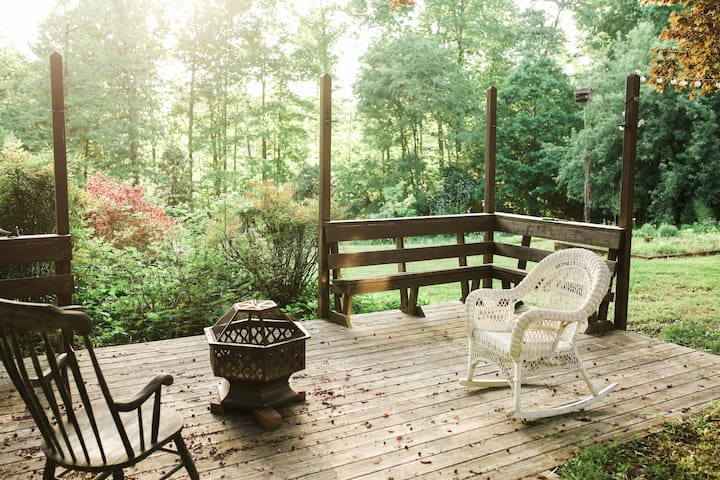 Enjoy sitting on the back deck.