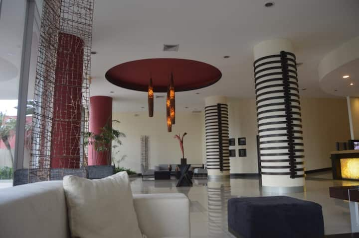 City view Suite with hotel amenities in safe area