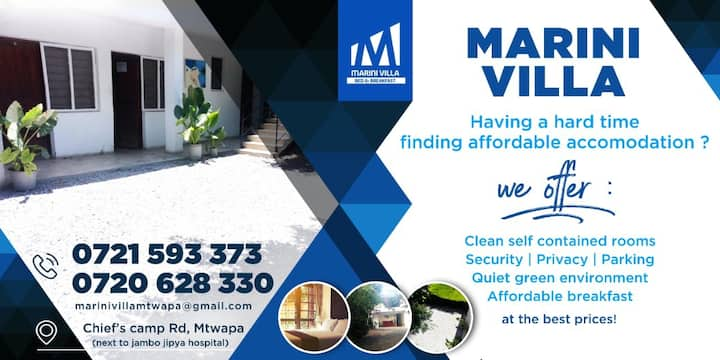Neat, serene & affordable accommodation in Mtwapa