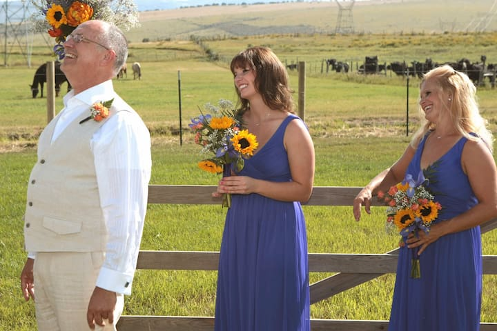 Ask us about having your wedding at the Bar 7 Ranch!