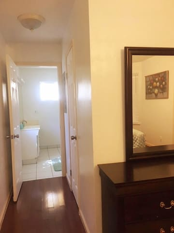 Full private room with full bathroom & full closet attached.