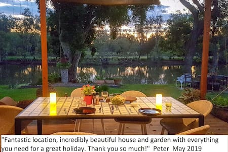 Delightful river front holiday house in Urunga.
