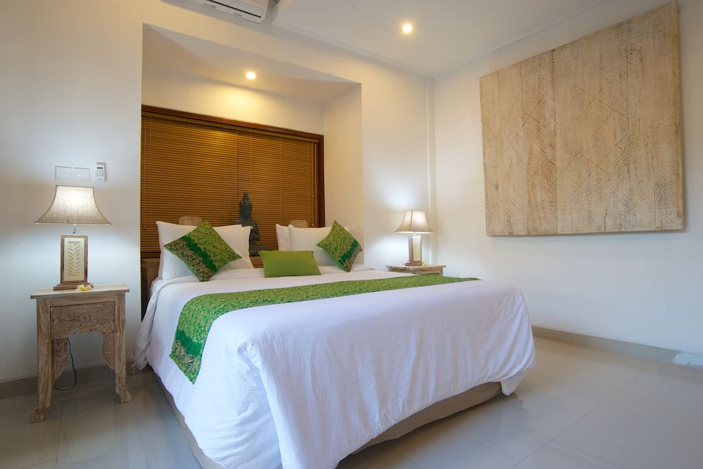 Bedrooms all with air conditioner and flat screen TV