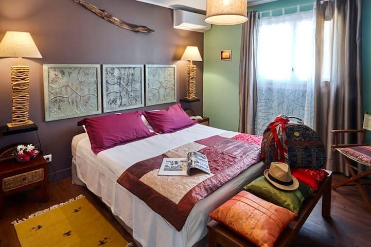 "La chambre ""Escale"", la plus grande avec un couchage Queen size"