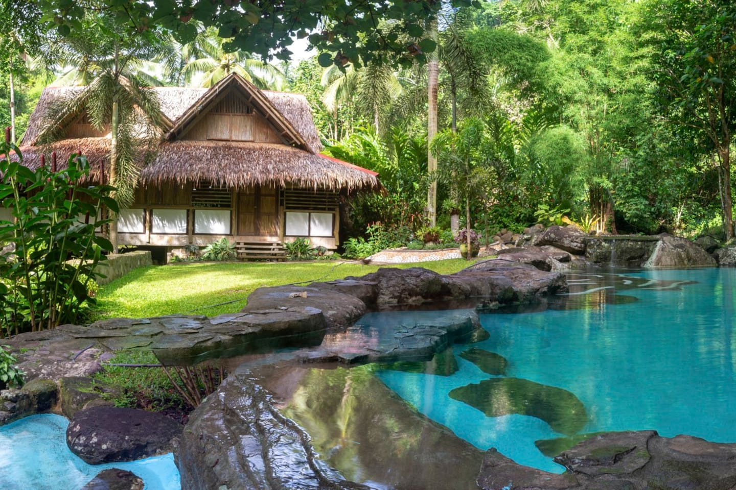 The Jungle house. What's not to like? Natural river fed pools for you to relax and cool off in.