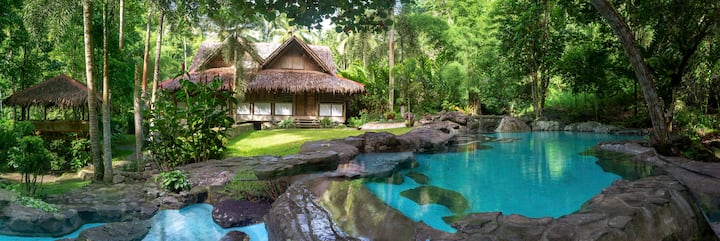 A Jungle House: Riverside Retreat w natural pool