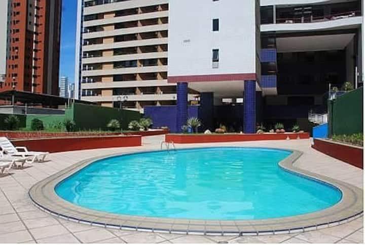 apartamento com suite com vista para o mar