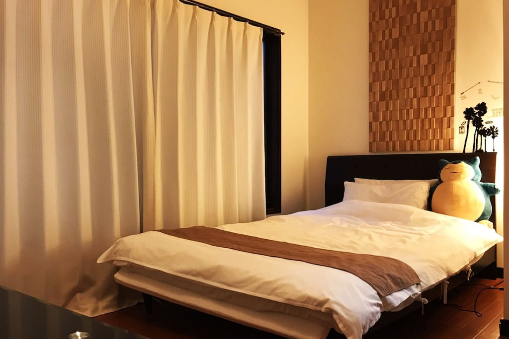 Spacious comfortable double bed