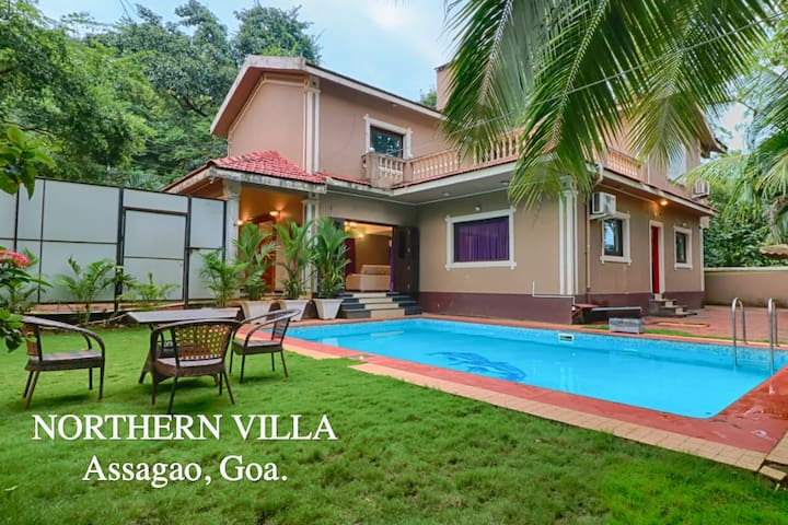 3 bhk private pool villa north goa northern villa