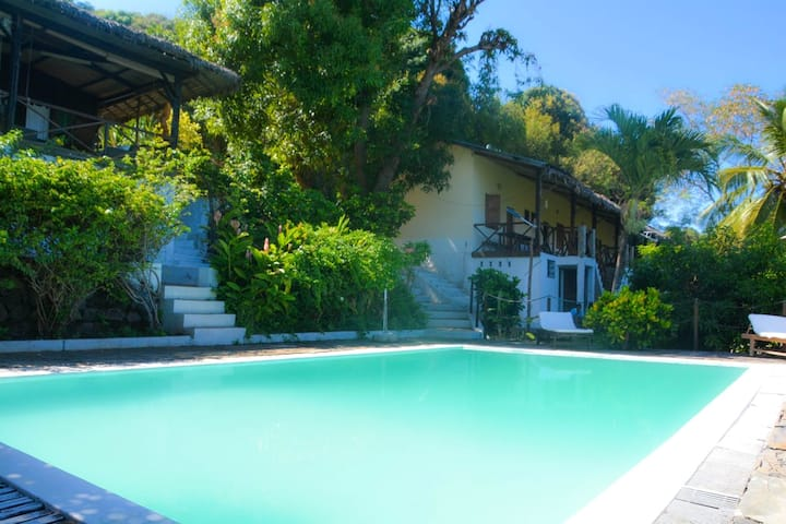 Villa with 3 bedrooms in Nosy Be, with wonderful sea view, private pool, furnished terrace - 4 km from the beach