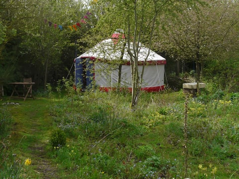The Yurt at Tithe Farm, North Somercotes, Louth.
