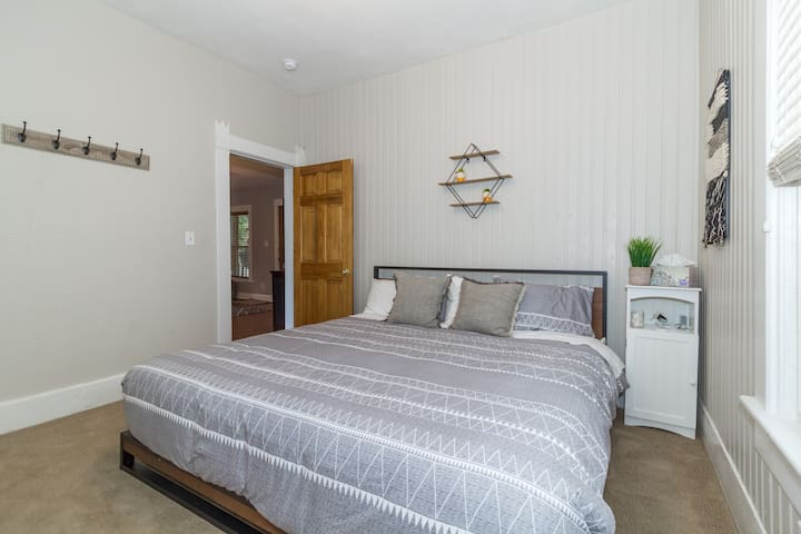 Sleep in the master bedroom on the brand new, extremely comfortable king mattress.
