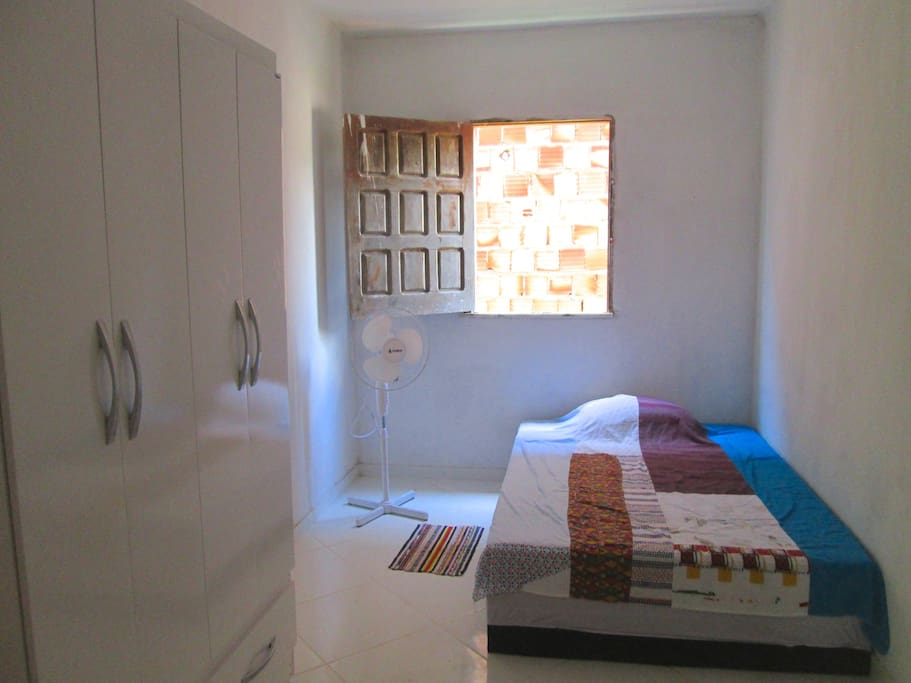 Small bedroom with double bed; we also have rooms with single beds