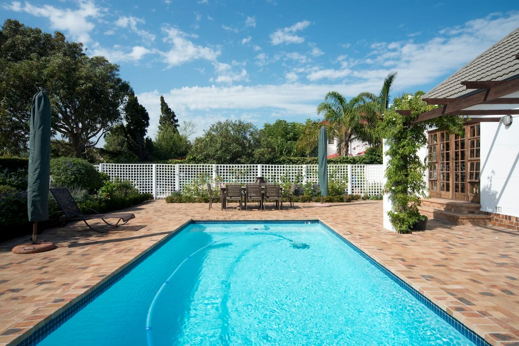 Cottage guests are welcome to use the solar heated pool, many deckchairs and patio - the pool level will depend on rainfall/water restrictions. Shared with our main house and our other 1 bedroom cottage.