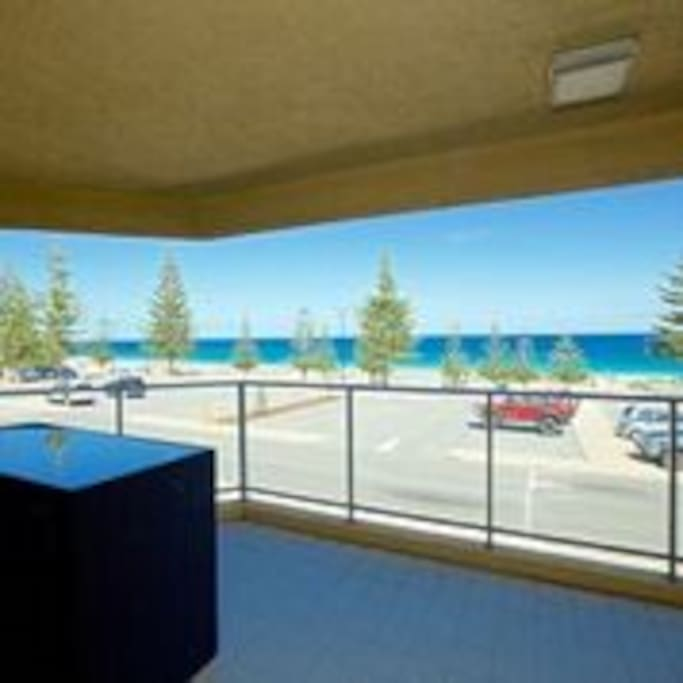 Large balcony overlooking Scarborough Beach