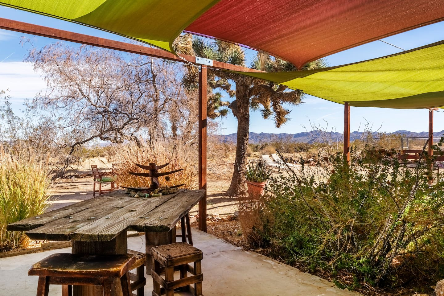 """Matt – """"A must go. Perched with beautiful views and an artistic interior, this is a can't miss spot in Joshua Tree.  Brilliant spot with an equally hospitable and knowledgeable host. Highly recommend!""""  ***** September 2019"""