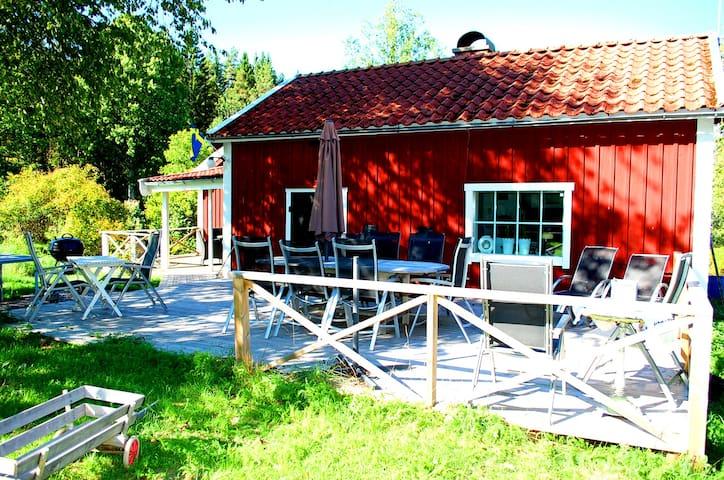 Live the Swedish summer by lake Ödesjön, own boat