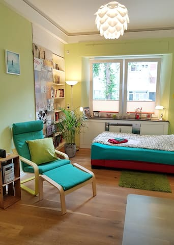 chillout-chair and cosy bed