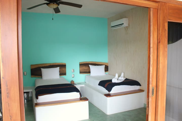 Tulum Downtown Room with 2 Single Beds