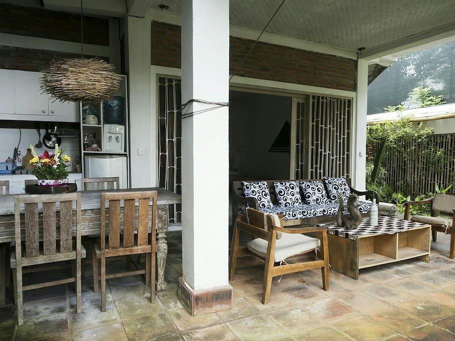 living area of <family villa A>