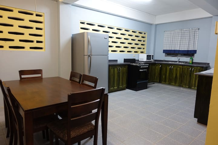 Full Dining and Kitchen area