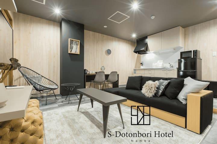 Best location of Namba/Dotonbori, 2BR for 7 pax