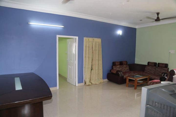 Fully furnished with AC , Iron Board etc.,
