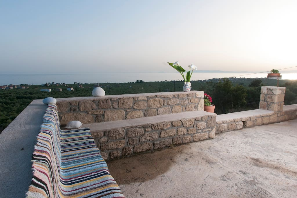 Enjoy the peacefulness of nature on the balcony