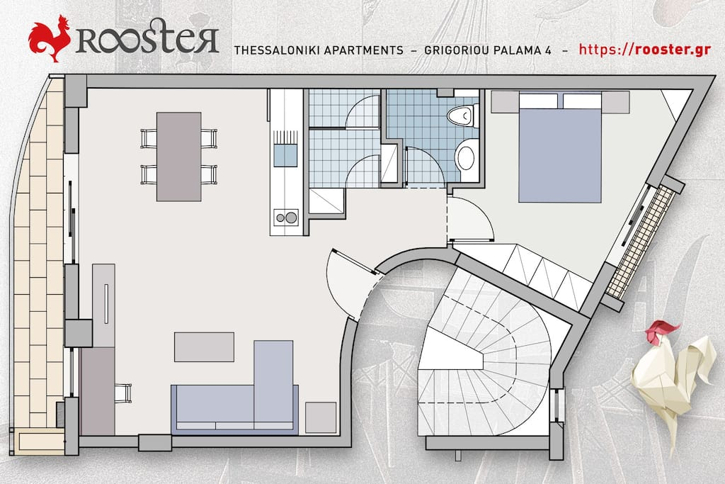 Floor Plan | ROOSTER Palama Apartment