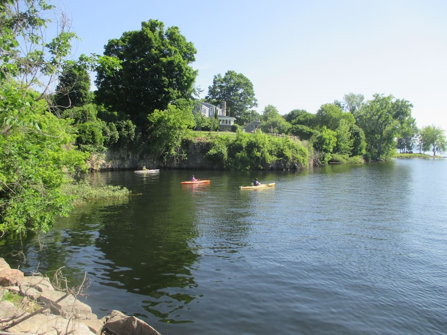 Across the street kayaking available. Kayak into an old quarry!
