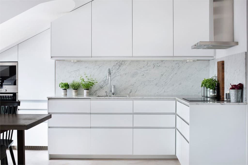 New renovated marble kitchen
