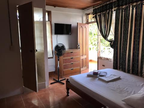 Room Double, Balcony and Bathroom