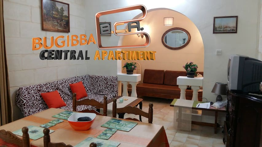 Bugibba Central Apartment - 2 Bedroom EntirePlace - San Pawl il-Baħar - Appartement