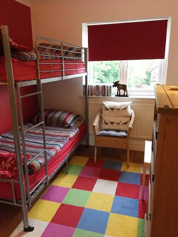 Room for two with bunk beds