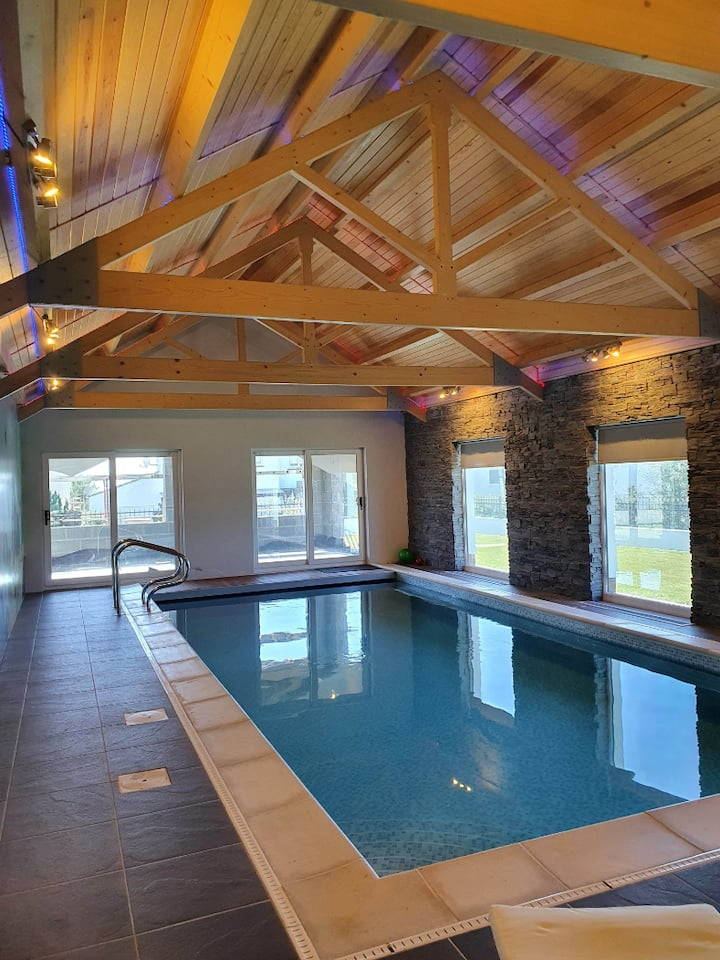 Bayview 1 -  Sea views, heated pool & hot tub!