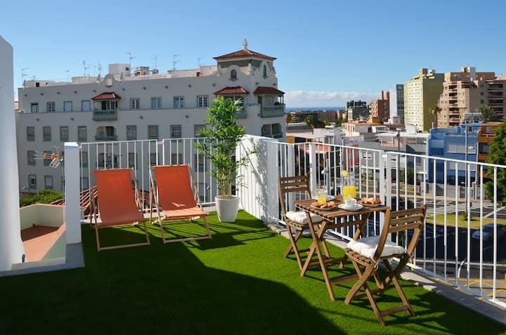Ático duplex con dos terrazas