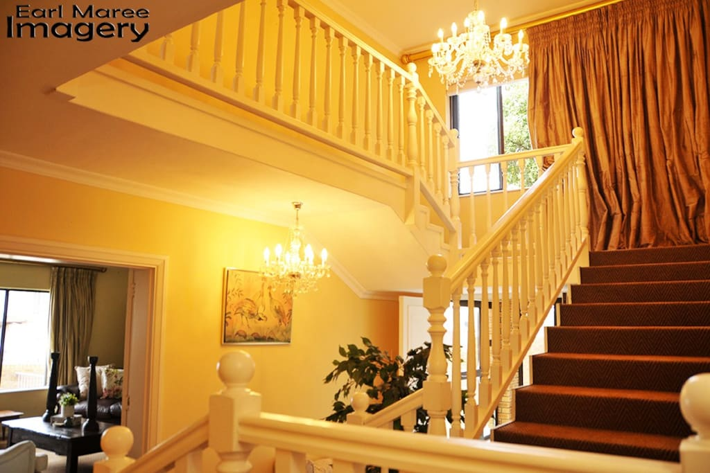 Stairs up to Top Floor