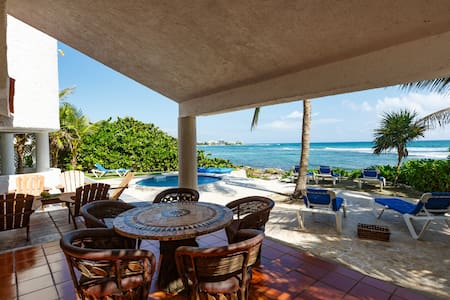 Rental Vacation  home  ocean front  in Akumal