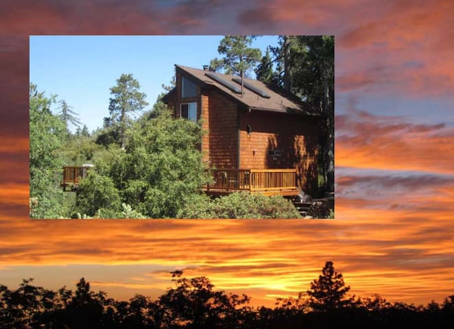 "Beautiful Sunset Views at ""Paradise Pines Retreat"" - Idyllwild-Pine Cove - Rumah"