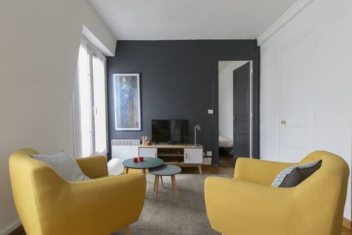 Appartement 32m2 cosy, calme & lumineux à Paris