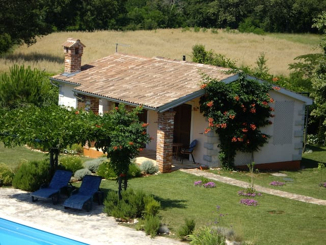 Cottage with huge pool and garden - Baderna - House