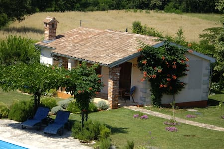 Cottage with huge pool and garden - Baderna