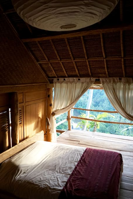 Master bedroom, semi-open-air, amazing views right from the bed!
