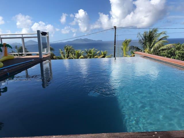 Superbe villa neuve vue imprenable sur les Saintes