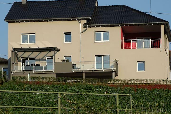 Komfortables Apartment mit überdachter Terrasse und wunderschönem Blick auf die Mosel