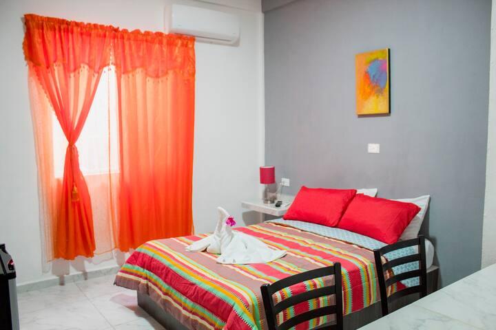 SANITIZADO 100% | Cuarto de Hotel Impecable